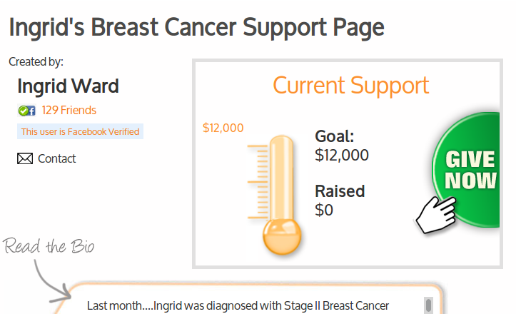 Ingrid's Breast Cancer Support Page